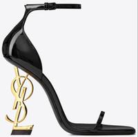 marke schuhe fersen für frauen groihandel-Mit Box Brand new Sexy Schuhe Frauen-Sommer-Wölbungs-Bügel-Niet-Sandalen Schuhe mit hohen Absätzen Spitze Zehe Art und Weise Luxus Einzel Hohe heel10.5cm
