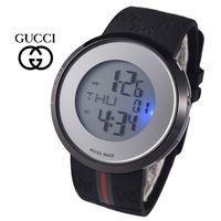 marke silikon uhr großhandel-Neue mode luxusmarke schweizer uhr für frauen herren sport armbanduhr led bunte licht uhren hohe qualität silikonband