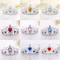 amor corazón tiara al por mayor-Fantasía princesa corona tocado corona infantil niños princesa niños varita mágica binario joyería niñas juguetes 18 estilo