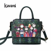 Wholesale forest green handbag resale online - Famous Brand Kavard Forest Green Bags Crossbody Bag For Women Bag Designer Handbag Lady Hand Bag Sac A Main Femme De Marque J190426