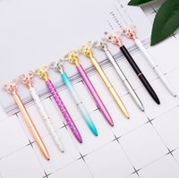 Wholesale business pens for sale - Group buy Butterfly Diamond Ballpoint Pen Business Metal Office Fashion Rotate Pens School Stationery Office Supplie