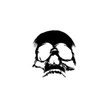 ingrosso grafica di auto bianca-Scary Demon Face Skull Decal Sticker Car Truck Finestra Tall White ColorCool Graphics