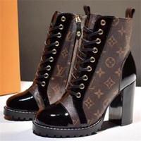ankle boots couro clássico mulheres venda por atacado-Womens Top Quality Confortável Star Trail Tornozelo Sapatilhas Das Senhoras de Velocidade Das Sapatilhas de Couro Da Forma Clássica de Impressão de Luxo Designer de Sapatos LL20