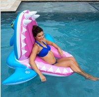 ingrosso giocattolo di coccodrillo di nuoto-hot adulti affamati materasso di squalo gigante coccodrillo animale gonfiabile tubi di nuotata acqua isola galleggiante lettino da spiaggia sedia a sdraio giocattolo per bambini