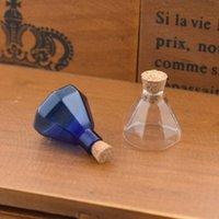 şişe şişeleri mantar toptan satış-Ucuz Kolye 1 adet sekizgen cork cam şişe cam şişe kolye corked şişeleri dilek şişe kolye kolye el yapımı takı bulguları