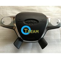 enfoque cubre al por mayor-La alta calidad del conductor del coche Airbag cubierta para Ford Focus volante del volante cubierta con logotipo envío gratis