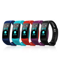 Wholesale tracker iphone for sale - Group buy Y5 Smart Bracelet Wristband Fitness Tracker Color Screen Heart Rate Sleep Pedometer Sport Waterproof Activity Tracker for iPhone Samsung