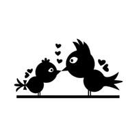 pássaros do amor adesivos venda por atacado-16 * 8.7 cm Beijando Pássaros Amor Bonito Do Carro Laptop Bumper Janela Vinyl Decal Adesivo Moderno Decalque Personalidade Engraçada Adesivos