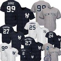 sanchez forması toptan satış-New York Ucuz Yankees 99 Aaron Hakim Jersey 25 Gleyber Torres 2 Derek Jeter 27 Giancarlo Stanton 24 Gary Sanchez Bebeğim Ruth Beyzbol