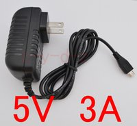 adaptador de fonte de alimentação 5v 3a venda por atacado-10 pcs de alta qualidade 5 v 3a Micro Usb Ac / dc Power Adapter UE EUA AU UK Plugue do Carregador de Alimentação 5v3a Para Raspberry Pi Zero Tablet PC Outro