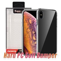 Wholesale hard back case packaging for sale - For iPhone Plus Acrylic Anti Knock Shockproof Case For iPhone X XR XS Max Clear Hard Back Cover With Retail Package
