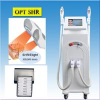 lâmpadas de tratamento venda por atacado-UK lâmpada de xenônio e-luz laser cabelo removedor de opt SHR laser pele tratamento da acne remoção sardas IPL