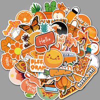 Wholesale cases for guitars for sale - Group buy 50pcs Set Cartoon Cute Orange VSCO Style Stickers for Luggage Phone Case Guitar Fashion Decor PVC Waterproof Stickers