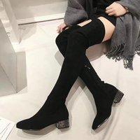 botas de neve meninas sexy venda por atacado-Mulheres sexy short bota da coxa de inicialização Meias Botas Sexy Ladies Magro Leg Over-the-knee Botas Meninas neve Botas Designer Casual Shoes Sapatos de salto alto