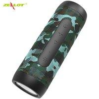 pequeno banco de energia mini venda por atacado-Zealot S22 Bluetooth Speaker fm Rádio Mini Portátil Boombox Pequeno Falante Sem Fio com Lanterna + Power Bank, suporte TF cartão
