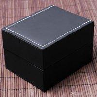 coussinets en mousse noire achat en gros de-Organisateur de boîte à bijoux avec montre en similicuir noir