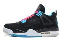 outlet homens sapatos de basquete venda por atacado-Qualidade Grande Preto 4 4 s Homens Basketball Shoes Design Sentido UNC OG luz Com Saída De Caixa Na Venda