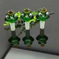 aceite de rana al por mayor-Cabeza de burbuja de rana verde Bongs al por mayor Tubos de quemador de aceite Tubos de agua Tubo de vidrio Plataformas de aceite Aceite