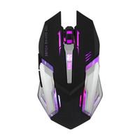 satılık oyun için dizüstü bilgisayarlar toptan satış-Kablolu Gaming Mouse Sessiz Optik 2400 DPI USB Fare Bilgisayar Laptop Için Renkli Arka Gamer LHY Satış