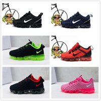Wholesale children shoes resale online - 2019 baby kid KPU Knitting VM Portable Kids Running Shoes Children cushion Sports Shoes Boys Girls Training Sneakers size