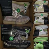 diseñadores de cajas de zapatos al por mayor-Talla 13 Con Stock X Box Hombres Zapatillas Reflective Negro Antlia Clay GID Lundmark Zapatillas de running Kanye West para mujer Diseñador de deportes Zapatillas