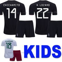 ingrosso kit di uniformi per calcio giovanile-2019 Messico Maglia da calcio per bambini Mexico Gold Cup CHICHARITO LOZANO CHUCKY Kids kits soccer jersey boys football shirt Uniformi ragazzi della Coppa d'oro Youth child G DOS SANTOS Thai quality