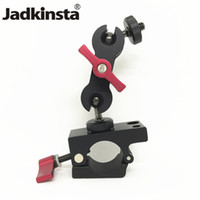 Wholesale magic arm for monitor for sale - Group buy Jadkinsta Tripod Heads Double Magic Arm Ball Head mm Rail Rod Clamp for DJI Ronin M MX System Monitor Camera Tripod Mount