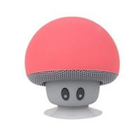 champignons haut-parleurs achat en gros de-Chaud Cartoon Champignon Sans Fil Bluetooth Haut-Parleur Étanche Sucker Mini Bluetooth Haut-Parleur Audio Support Portable Extérieur