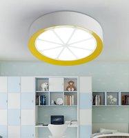 kinderzimmer decke großhandel-Personalisierte kreative Zitrone Karikatur LED-Deckenlampe Schlafzimmer Wohnzimmer Esszimmer Kinderzimmer Beleuchtung weiß