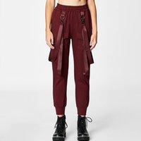 yeni stil kadın pantolon toptan satış-Bayan Pantolon 2019 İlkbahar ve Sonbahar Yeni Moda Tulumları Rahat Sokak Stil Kadın 3 Renkler için Harem Pantolon S-L