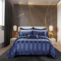 ägyptische seide groihandel-LeRadore Egyptian Qualität Bedding Collection Hotel Tribute Silk HOTEL Luxury Collection Bett-Blatt Pillowcase Set 4/6 Stück