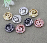 Wholesale cubic zirconia metal spacer bead for sale - Group buy 10pcs mm Metal Copper Micro Pave CZ Rondelle Spacer Loose Beads Cubic Zirconia Connector beads For Jewelry Making