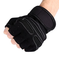Wholesale fitness bars exercises resale online - 1Pair Fitness Weight Lifting Gloves Gym Training Gloves Bar Grip Half Finger Breathable Anti Slip Exercise Cycling Wrist Wraps