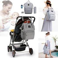 Wholesale backpacks for diaper resale online - Backpack for Women Diaper Bag with USB Interface Large Travel Backpack Nursing Waterproof Nappy Bag Mummy Maternity Stroller Bag