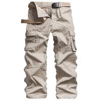 Wholesale men s work clothing online - Cargo Pants Overalls Male Mens Army Clothing Tactical Pants Style Work Wear Pockets Combat Straight Trousers
