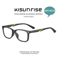 çocuklar gözlük camları toptan satış-Kisunrise New Children Anti-blue Student TR Eyewear Girl Kids Eyeglasses Boy Fashion Frame Glasses KS131