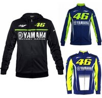 Wholesale moto racing clothing resale online - mens motorcycle hoodie racing moto riding hoody clothing jacket men jacket cross Zip jersey sweatshirts M1 yamaha Windproof coat