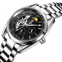 tevise роскошные мужчины оптовых-TEVISE Мужские Часы Механические Часы Роскошные Светящиеся Автоматические Часы Мужской Часы Бизнес Moon Phase Наручные