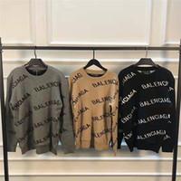 зимние свитера толстовки оптовых-19SS мужские свитера пуловер Мужчины Марка Deisgner Толстовка с длинным рукавом Толстовка Роскошная письмо Вышивка Трикотаж Зимняя одежда