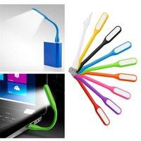 aydınlatma kitapları toptan satış-Silika Jel Renkli Mini Kitap Işık Okuma Lambası USB LED Işık Bilgisayar Ampul Dizüstü PC Gece Okuma