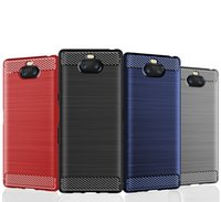 Wholesale xperia black case for sale – best 1 MM Carbon Fiber Texture Slim Armor Brushed TPU CASE COVER FOR Sony Xperia PLUS Z4 PLAY XA3 Ultra XA2 PLUS