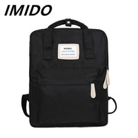 Wholesale pink korean backpacks for sale - Group buy IMIDO Summer Style Small Fresh Contrast Color Backpack Japanese Korean Soft Sister Portable Multi Purpose Campus Student