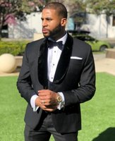 Wholesale black tuxedos for sale - Group buy 2020 Black Mens One Button Wedding Tuxedos For Groom Pieces Sets Groomsmen Best Man Suit Men s Suits Bridegroom Blazer