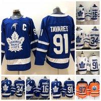 buz hokeyi formalarını gençler toptan satış-Womens Gençlik Toronto Maple Leafs Jersey 91 John Tavares 34 Auston Matta 97 Connor McDavid 16 Mitchell Marner Buz Hokeyi Jersey