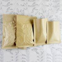 selo térmico sacos de alumínio embalagem de alimentos venda por atacado-9 * 13 centímetros Pacote Seal calor Brown Kraft Papel alumínio Folha de alumínio alimentar de café Nuts bloco do saco 100pcs / lot Open Top Mylar Foil Partido Pouch