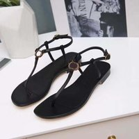 Wholesale soft thong flip flop slippers for sale - Group buy Women Sandals Luxury Desinger Slippers soft Leather Francis Thong Sandals Causal Flip Flops Brand Shoe Sandals size35 With box