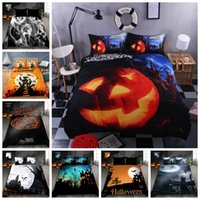 Wholesale black pink 3d bedding set resale online - Fashionable Bedding Set King Size D Printed Duvet Cover For Halloween Queen Twin Full Single Double Soft Comfortable Bed Cover