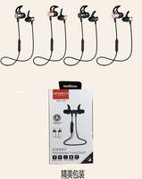 Wholesale wireles headphone resale online - SLS100 stereo wireles bluetootsh sports earphone magnetic head inear supper bass music headset neckband headphone with package X