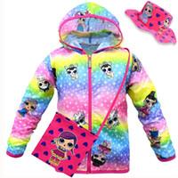 Wholesale jackets women resale online - Kids Summer Sun Protection Clothes Surprise Girls Coat Pieces Set Long Sleeve Hooded Jacket Crossbody Bags Bucket Hats Designer Suit HA412