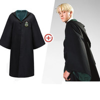 Wholesale blue cloak costume for sale – halloween Halloween Boy Cosplay Costume Movie Magic Gown White Shirt Scarf Tie Cloak Cloak Suit Stage Drama Halloween Cos Clothing